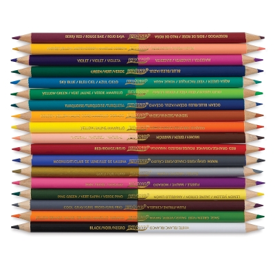 Duo-Color Colored Pencils, Set of 18 with 36 Colors