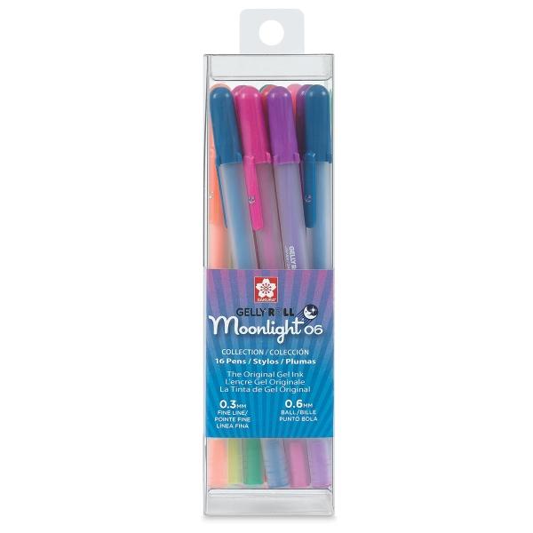 Gelly Roll Moonlight Pen Set, Pkg of 16, Fine Point
