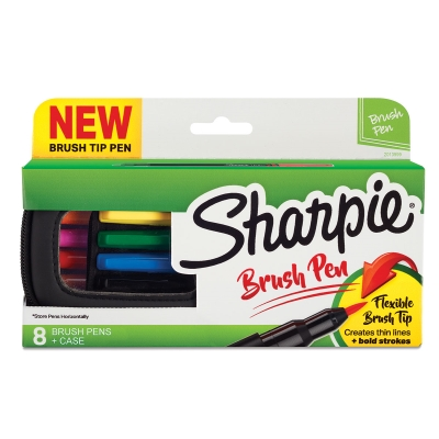 Sharpie Brush Tip Art Pens, Set of 8