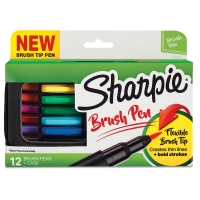 Sharpie Brush Tip Art Pens, Set of 12