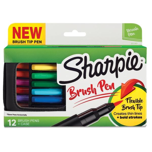 Sharpie Brush Tip Art Pens, Set of 12