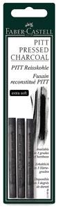 Compressed Charcoal Sticks, Extra Soft, Pkg of 3