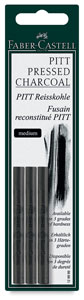 Compressed Charcoal Sticks, Medium, Pkg of 3