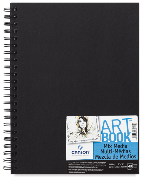 "Mix Media Hardbound ArtBooks, 40 sheets <br> 9"" x 12"" Portrait"