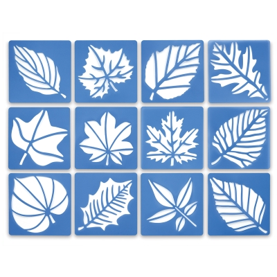 Perfect Leaf Stencils, Set of 12