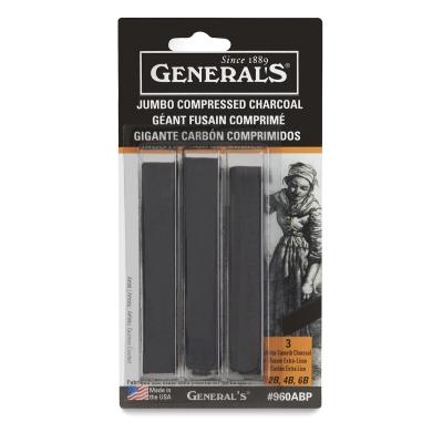 Jumbo Charcoal Sticks, Pkg of 3