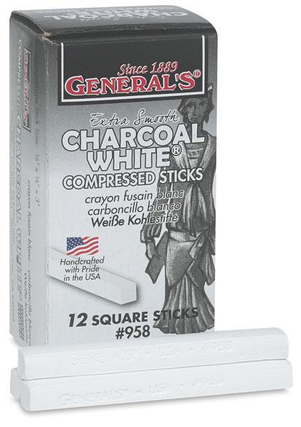 White Charcoal, Pkg of 12