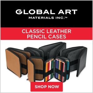 Global Art Classic Leather Pencil Cases