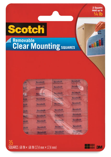 Removable Clear Mounting Squares, Pkg of 35