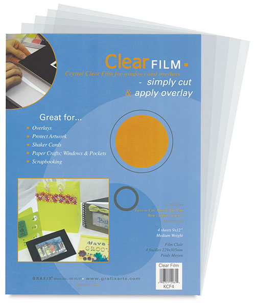 Clear Film, Set of 4 Sheets