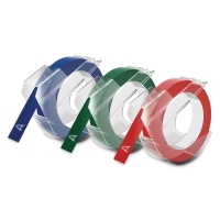 Embossing Tape Refill, Pkg of 3(Blue, Green, and Red)