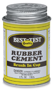 Rubber Cement, <nobr>Metal Can with Brush</nobr>
