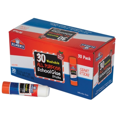 All Purpose Washable Clear Glue Sticks, Pkg of 30