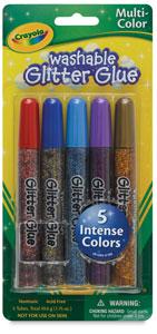 Multicolor Glitter Glue, Set of 5
