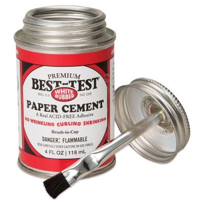 Best-Test Acid-Free Paper Cement, 4oz