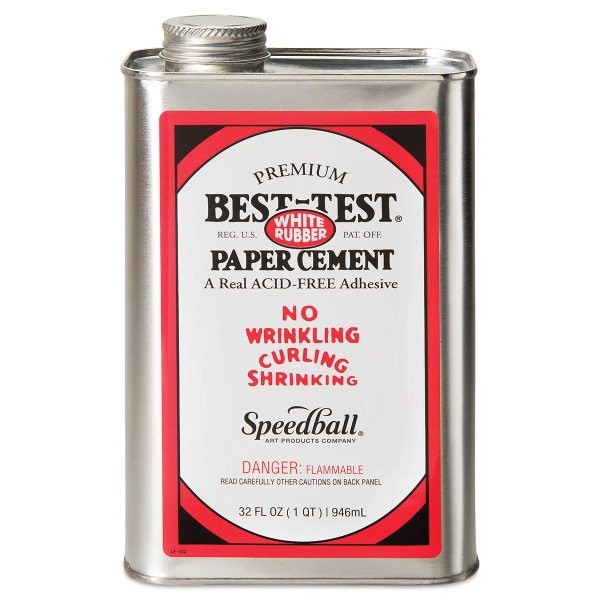 Best-Test Acid-Free Paper Cement, Quart