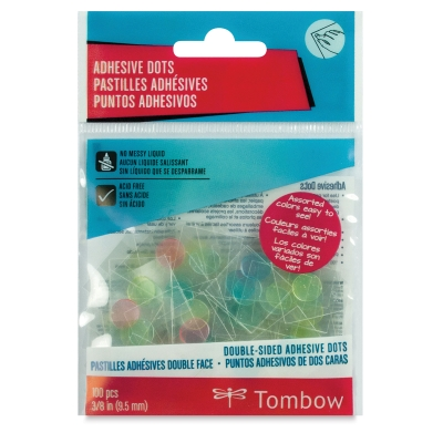 Color Adhesive Dots, Pkg of 100