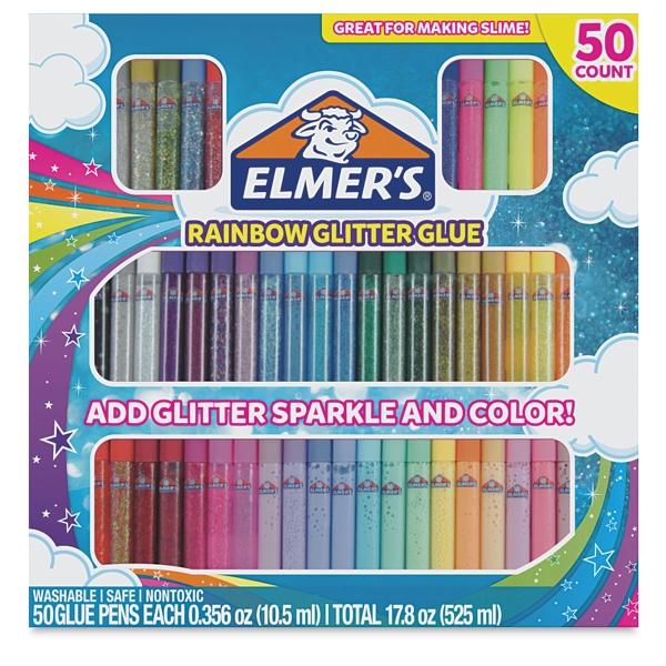 Rainbow Glitter Glue Pens, Pkg of 50