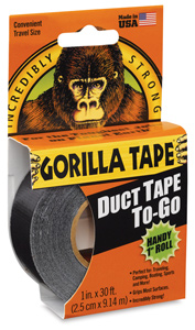 "Gorilla Tape, Black, 1"" × 30 ft"