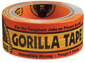 "Gorilla Tape, Black, 2"" × 12 yd"