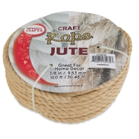 "Natural Jute Craft Rope, 3/8"" Dia"