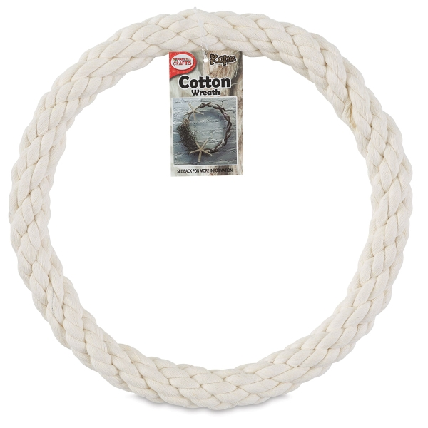Natural Cotton Rope Wreath