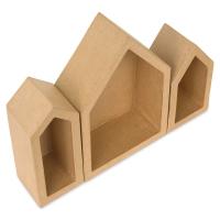 Shadow Box Shape, Set of 3 Houses