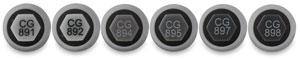 Cool Greys, Set of 6, Brush Tip