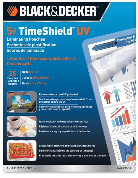 """Thermal Laminating Pouches, 5 mil, 8½"""" × 11"""""""