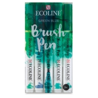 Green Blue Hues, Set of 5