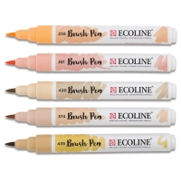 Beige/Pink Hues, Set of 5