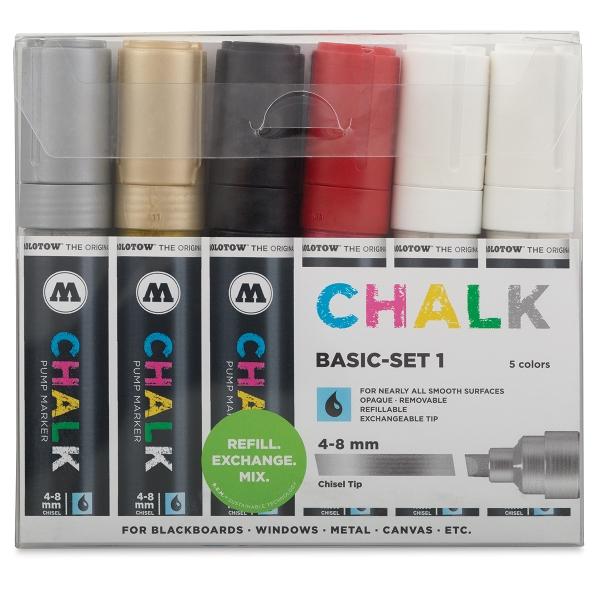 Basic Colors, Set of 6, Chisel Nib 4-8 mm