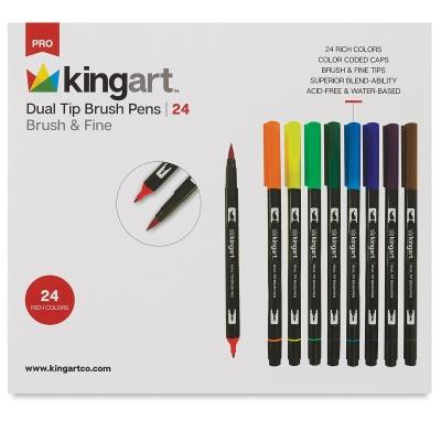 Dual Tip Brush Pens, Set of 24
