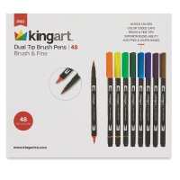 Dual Tip Brush Pens, Set of 48