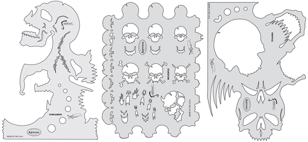 Skull Master Templates, Set of 3