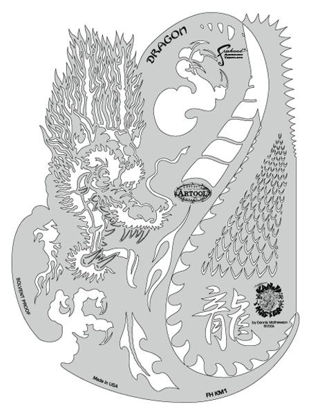 Kanji Master Dragon Template