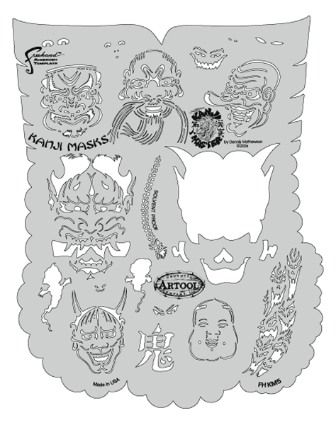 Kanji Master Kanji Masks Template