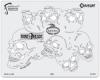 BoneHeadz Cranium Templates, Set of 4