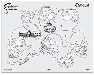 BoneHeadz Cranium Templates, Set of 4