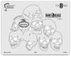 BoneHeadz 8 Dead Templates, Set of 4