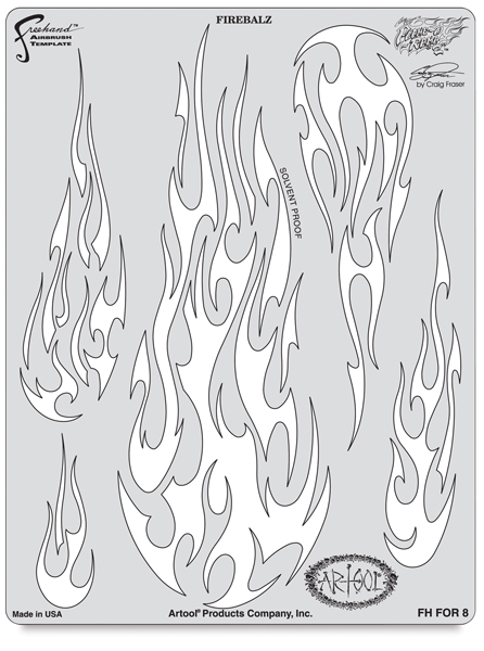 Flame-O-Rama 2 Fire Balz Template