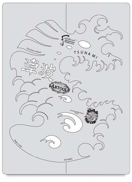 Kanji Master Tsunami Wave Template