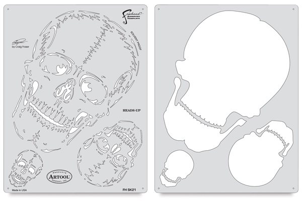 Horror of Skull Master Heads Up Template