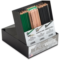 Black and White Pencils, Classroom Pack of 84