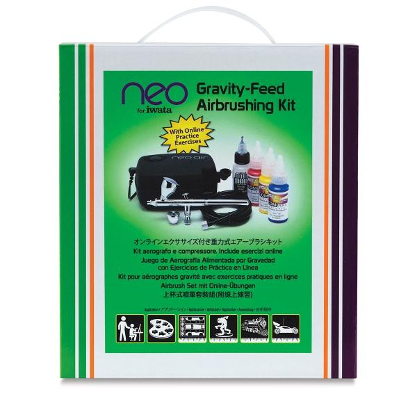 Iwata Airbrush Kit >> Neo For Iwata Gravity Feed Airbrushing Kit Blick Art Materials