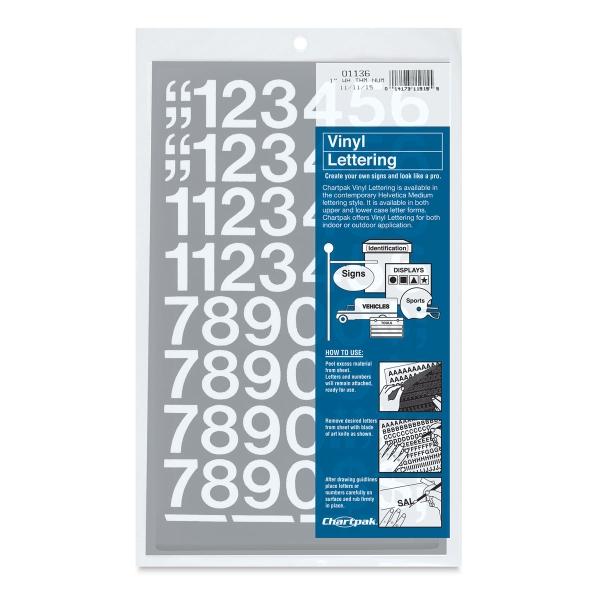 Chartpak Vinyl Numbers - BLICK art materials