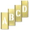 Horizontal Interlocking Brass Stencils