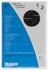 Helvetica Vinyl Numbers, Black