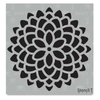 Chrysanthemum Stencil