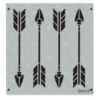 Arrow Stencil, Repeat Pattern